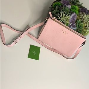 Kate Spade Pink textured Leather crossbody bag